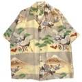 ~50s ROSS SUTHERLAND JAPANESE PATTERN HAWAIIAN SHIRT.