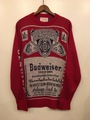 70s BUDWEISER OFFICIAL KNIT SWEATER.