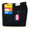 "60s ""W34"" 5 BROTHER DEAD STOCK BLACK COTTON WHIP. WORK PANTS."