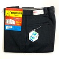 """60s """"W34"""" 5 BROTHER BLACK COTTON WHIP. WORK PANTS."""