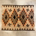 "20s~ ""WHIRLING LOG"" NAVAJO RUG."