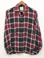 60s TOWNCRAFT. BLEND RAYON PLAID SHIRT.