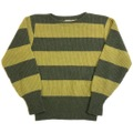 ~60s CROMWELL'S WIDE BORDER KNIT SWEATER