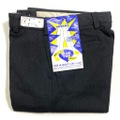 "60s ""W30"" BLUE TOP DEAD STOCK BLACK COTTON WHIP. WORK PANTS."