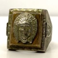 50s INDIAN MOTIF MEXICAN RING.