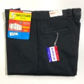 """60s """"W38"""" 5 BROTHER BLACK DEAD STOCK COTTON WHIP. WORK PANTS."""