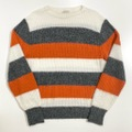 60s BRENT WIDE BORDER PATTERN KNIT SWEATER.