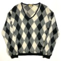 60s~ DIAMOND DIA PATTERN KNIT SWEATER.