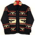 50s THUNDERBIRD BLACK COWICHAN KNIT.