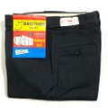 """60s """"W33"""" 5 BROTHER DEAD STOCK BLACK COTTON WHIP. WORK PANTS."""