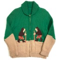 60s ESKIMO COWICHAN KNIT SWEATER.