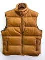 ~80s PLILLIPPE MONET LEATHER DOWN VEST.