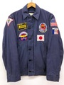 60s U.S.NAVY FULL PATCHED UTILITY JACKET.