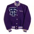 "60s BUTWIN ""FULL PATCHED"" VARSITY JACKET."