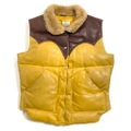 70s ROCKY MOUNTAIN LEATHER DOWN VEST.