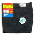 """60s """"W34"""" 5 BROTHER DEAD STOCK BLACK COTTON WHIP. WORK PANTS."""