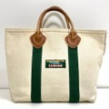 90s L.L.BEAN LEATHER HANDLE BOAT AND TOTE.