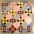 40s A.R.C. AMERICAN QUILT PATCHWORK.