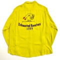"""60s KING LOUIE """"EXHAUSTED ROOSTERS"""" L/S. BOWLING SHIRT."""