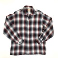 60s BRENT. SHADOW PLAID RAYON SHIRT.