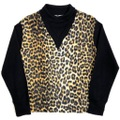 "50s~ TROY CRAFT ""LEOPARD"" FAKE LAYERED PULLOVER SHIRT."