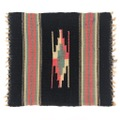 ~50s BLACK COLOR CHIMAYO RUG.
