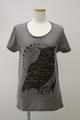 フクロウTシャツ(ヘザーブラウン)