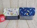 封筒型お弁当袋2点セット(電車×紺海)