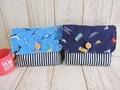 封筒型お弁当袋2点セット(青海×車)