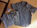 着物で作る本格シャツ 110cm