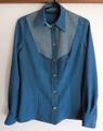 胸ヨーク切り替えの着物シャツ Mサイズ