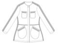 黒紋付き着物を部分使いしたランクアップジャケット Mサイズ
