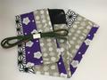 麻の葉紫の竹刀袋 オーダー、完成品有り。