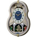 リズム時計 スモールワールドカラーズ 電波メロディ付掛時計4MN543RH18