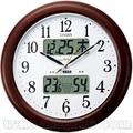 シチズン インフォームナビEXカレンダー温湿度計付き夜でも見える電波掛時計4FY620-006