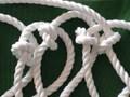 災害緊急時に!         避難ロープ4.5m       2階からの緊急避難に       (先端編み込みリング常設型)