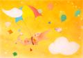 ポストカード「ワンダー空を飛ぶ」