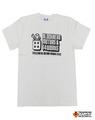 【t4works】『BLOCKHEAD MOTORS & t4works』Tシャツ ビンテージホワイト Sサイズ