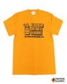 【t4works】『BLOCKHEAD MOTORS & t4works』Tシャツ ブロックヘッドイエロー Sサイズ