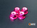 【t4works】アルミフランジロックナット 4mm(4個入り) ピンク