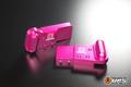 【t4works】ビレットハンガー(8mmロング) ホーネット用 ピンク