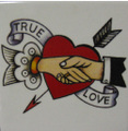 TATTOO MOTIF TILE-SHAKE HANDS-