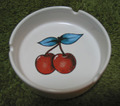 TATTOO MOTIF ASHTRAY-CHERRY