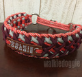 パラコード手編み首輪#322 小型犬〜超大型犬向き ハーフチョークマーティンゲール