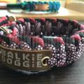 パラコード手編み首輪#130 小〜大型犬 ハーフチョークスリップ