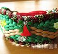 パラコードで編むクリスマス首輪 #251 中型犬〜超大型犬 ハーフチョークマーティンゲール