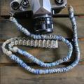 MIX麻紐ヘンプカメラストラップ-blue