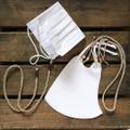 2色から選べる・4通りの使い方が出来る麻紐ヘンプのマスクストラップ