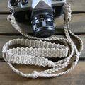 麻紐ヘンプカメラストラップA(2重リング)118cm