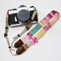 ヤーンのカメラストラップ/Klimt-inspiration